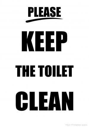 Keep the toilet clean