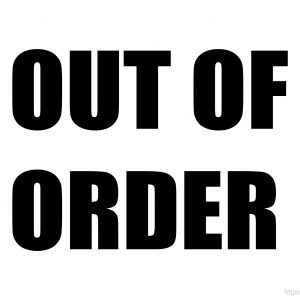 Printable Out Of Order Sign