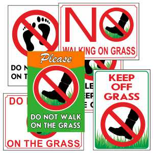 Keep Off Grass Signs
