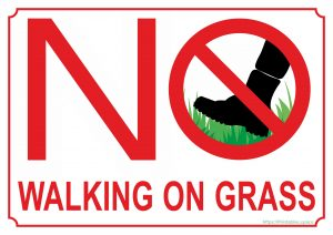 No Walking On Grass