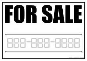 For Sale Printable Sign