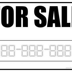 For Sale Printable Sign