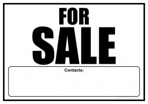 For Sale Sign With Contacts Field