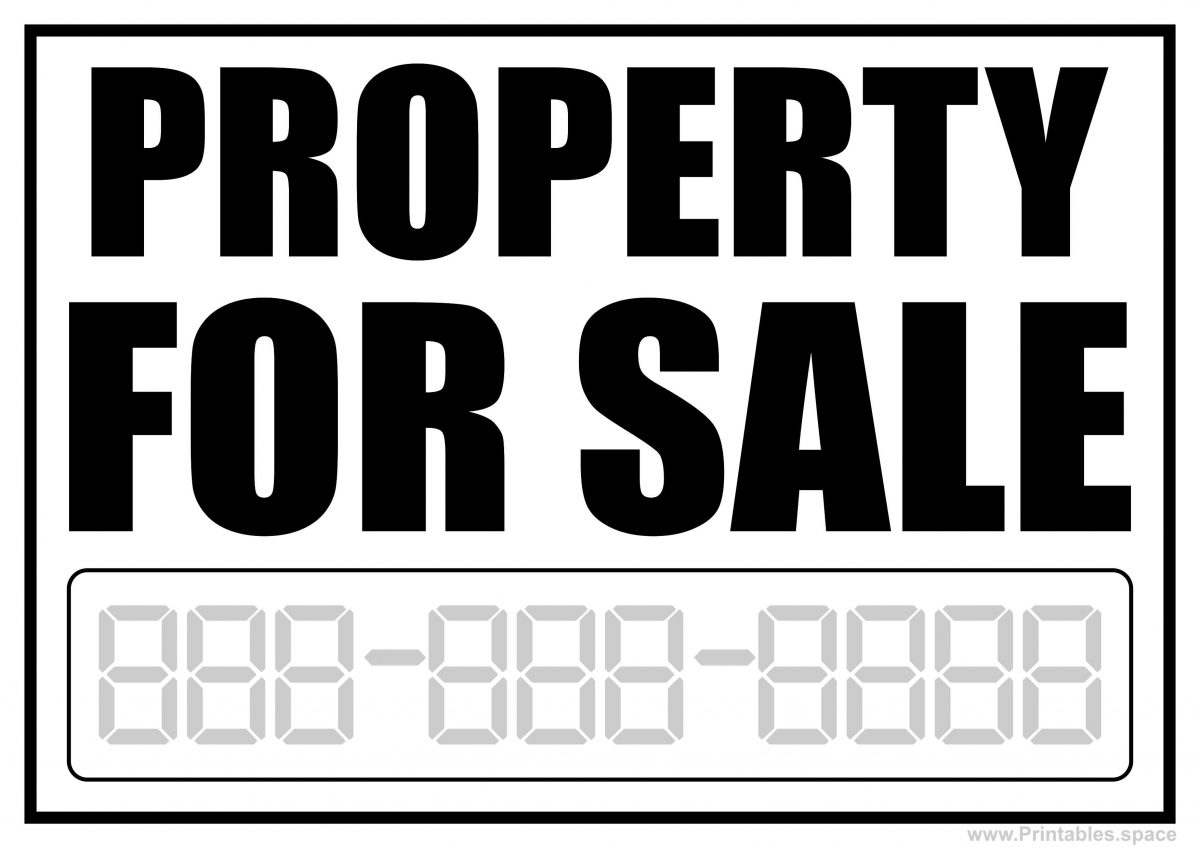 Property For Sale Sign