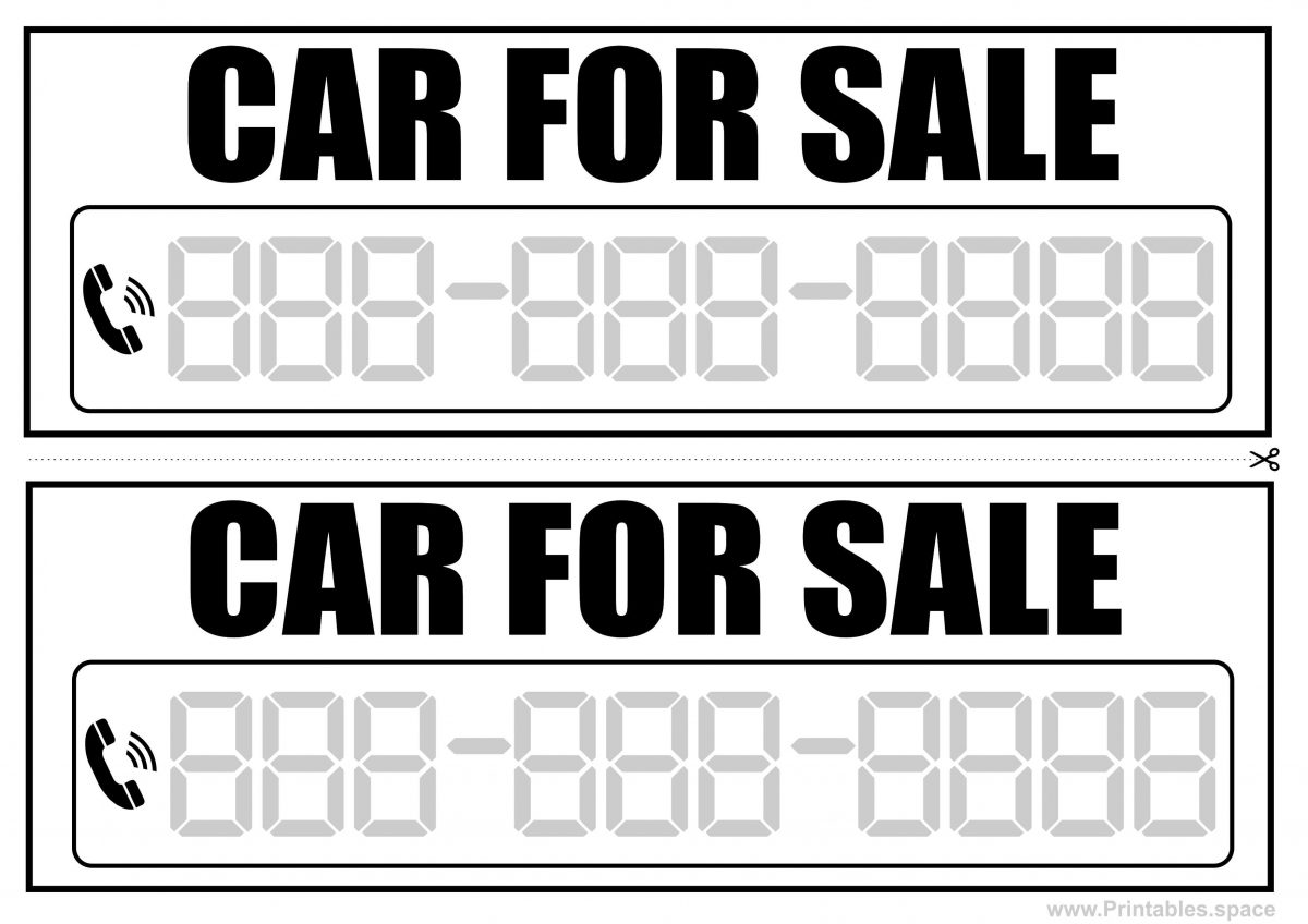 Car For Sale Signs