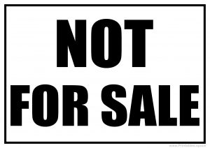 Not For Sale Sign