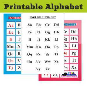 English alphabet - download and print
