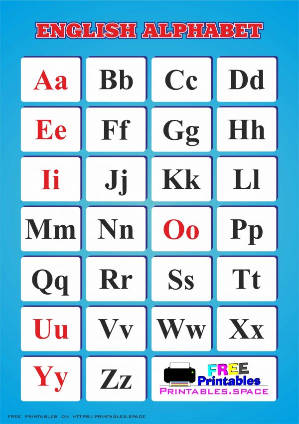 Printable English Alphabet