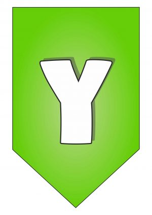 Letter Y for Happy Birthday Banner