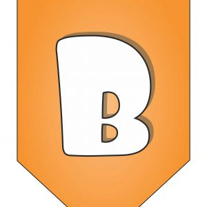 Letter B for Happy Birthday Banner