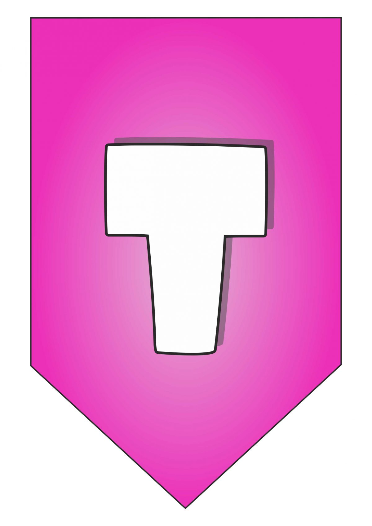 Letter T for Happy Birthday banner