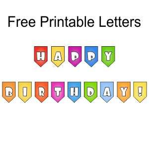 Happy Birthday - Letters for Banner