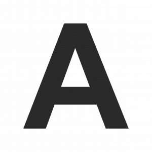 Large Printable Letter A