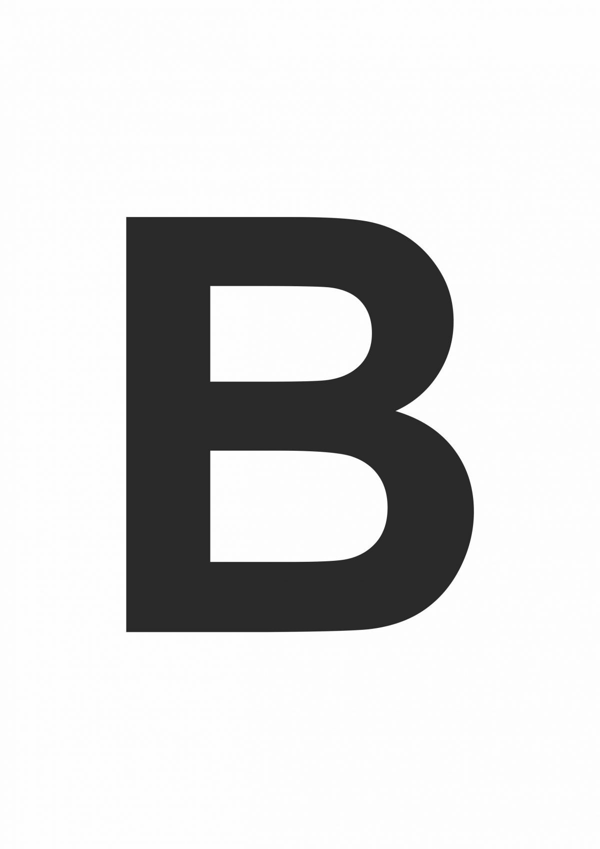 Large Printable Letter B