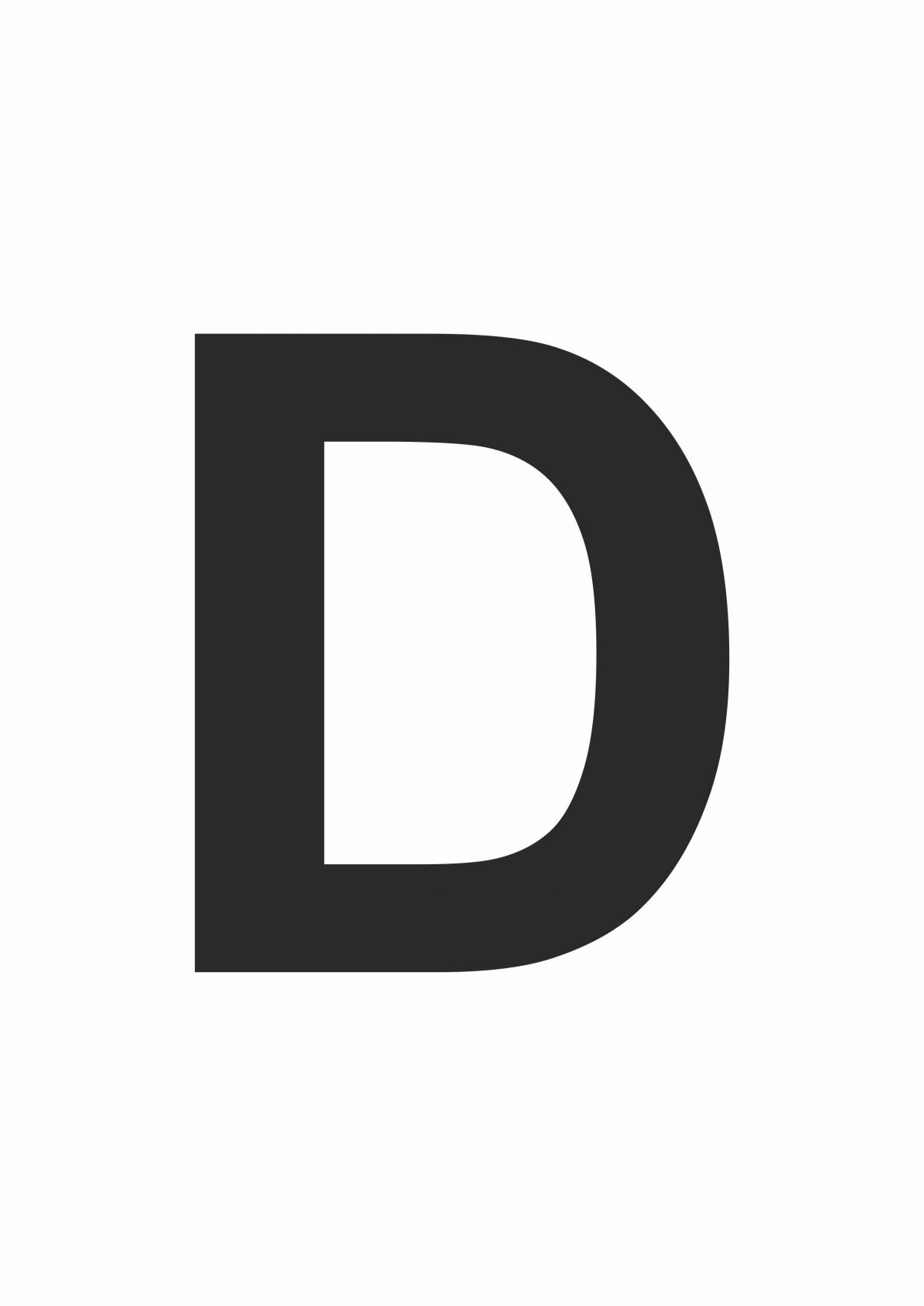 Large Printable Letter D