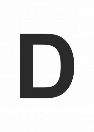 Large Printable Letter D