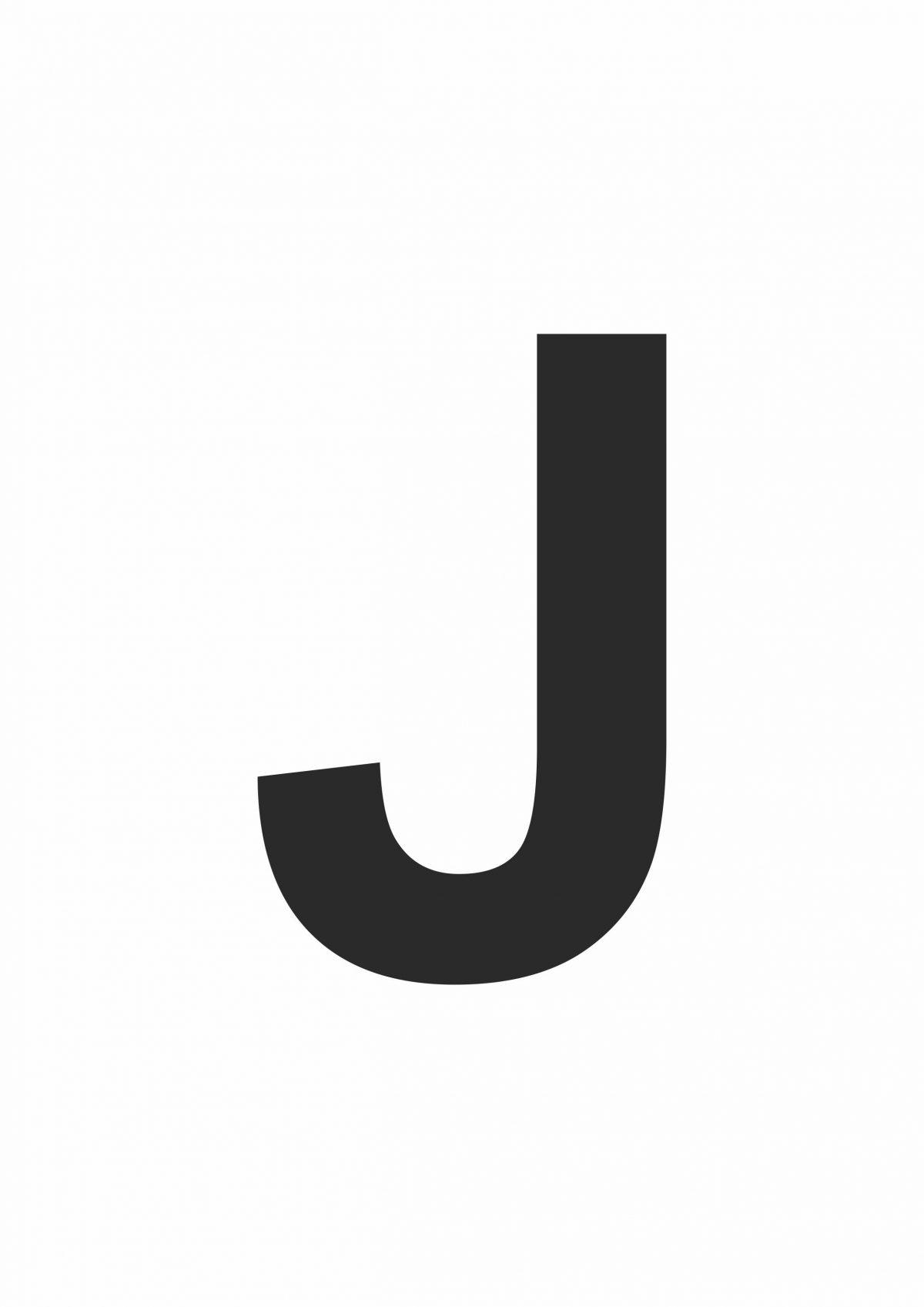 Large Letter J