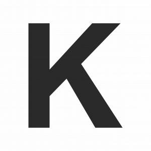 Large Printable Letter K