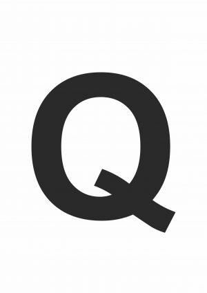 Large Letter Q