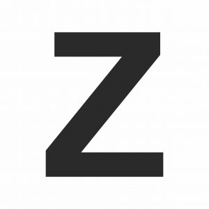 Large Letter Z - Printable Template