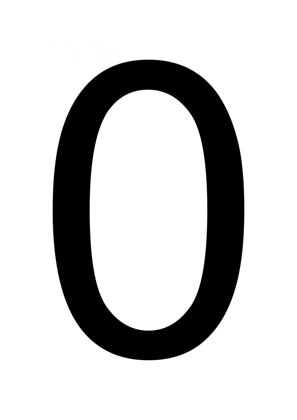 Printable Number 0