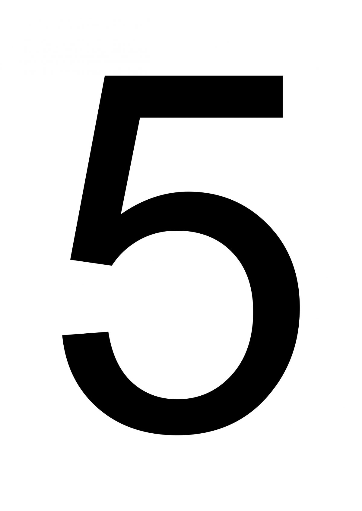 image regarding Free Large Printable Numbers called Superior Printable Amount 5 - Totally free Printables