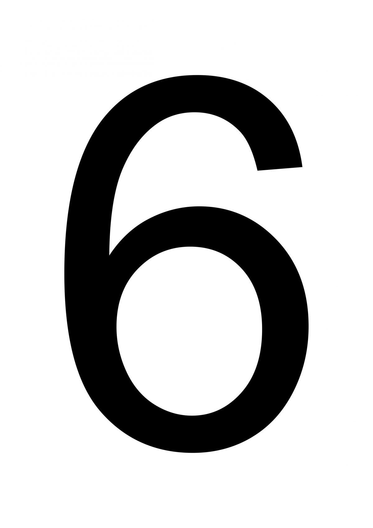 Number 6  U2013 Large Printable Numbers  U2013 Free Printables