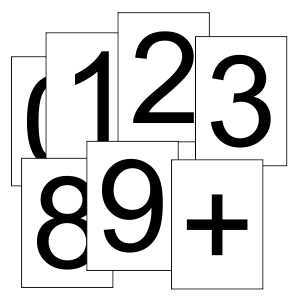 picture relating to Free Large Printable Numbers known as Totally free Printable Quantities 0 - 9 (1 for every site) Math Symbols
