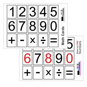 Printable Flash Cards With Numbers And Symbols