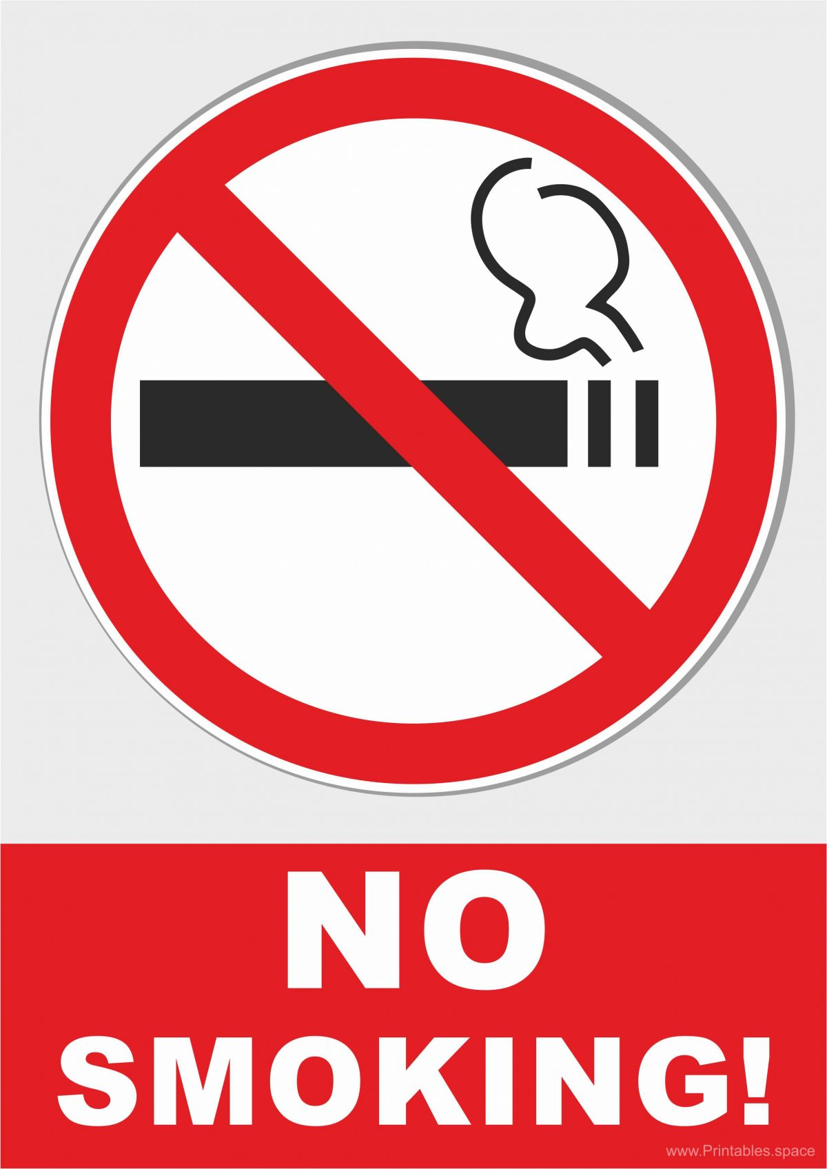 No smoking - Prohibiting Sign