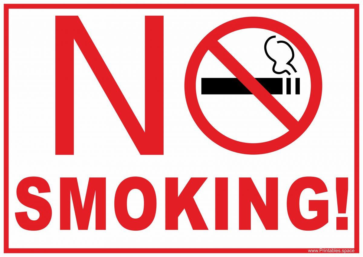 No smoking free sign