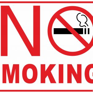 No smoking free sign