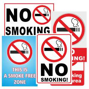 Printable signs - No Smoking