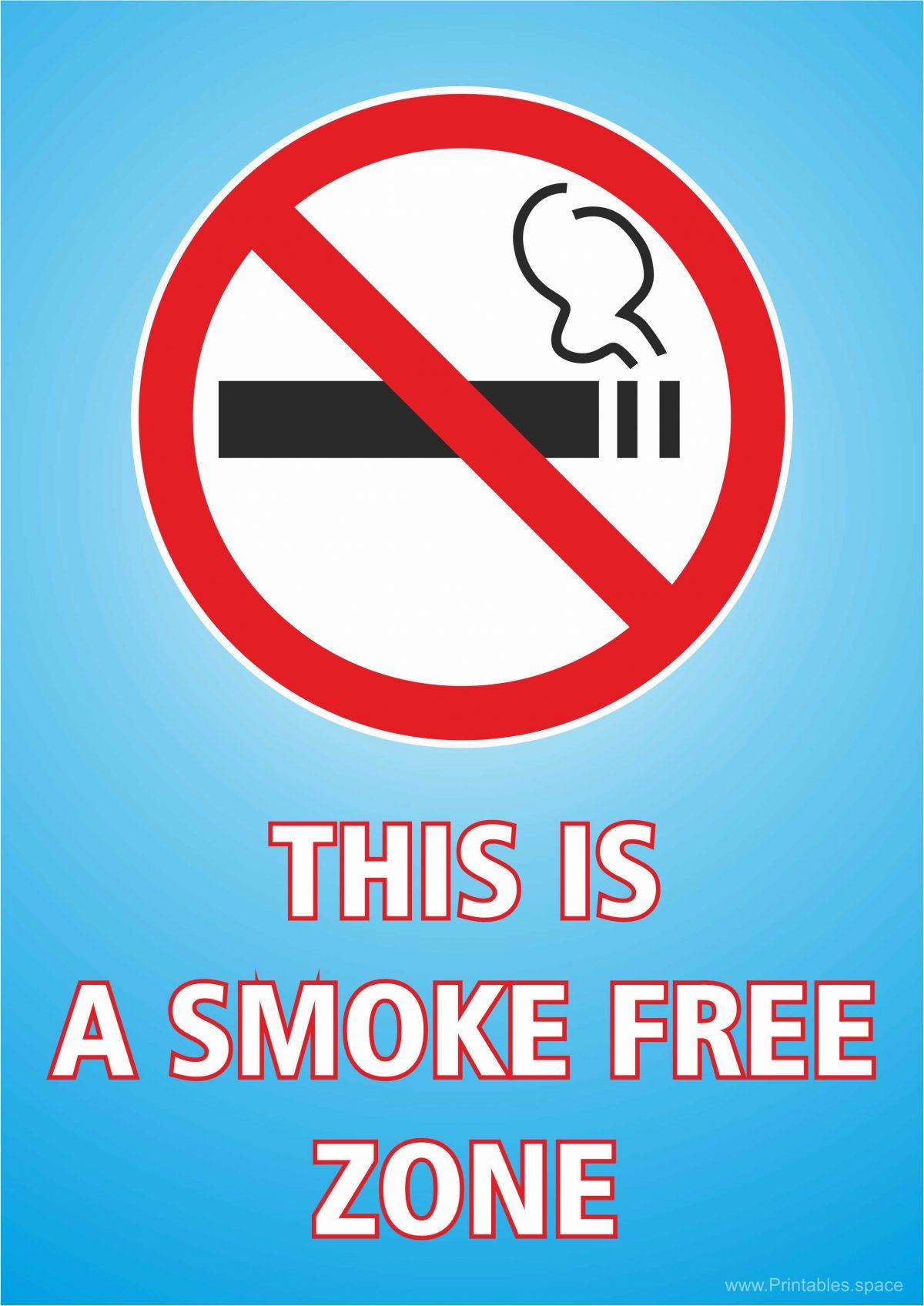 No smoking - This is a smoke free zone