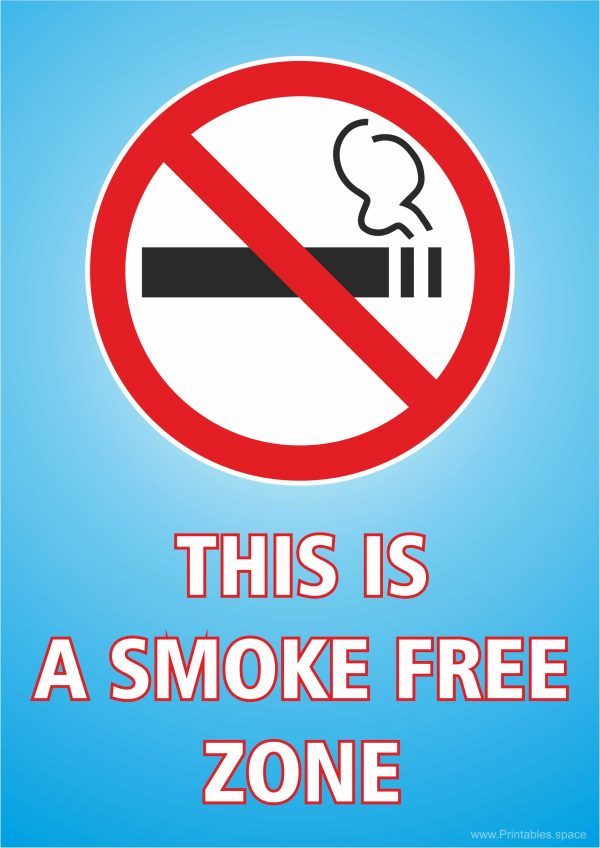 No smoking - This is a smoke free zone