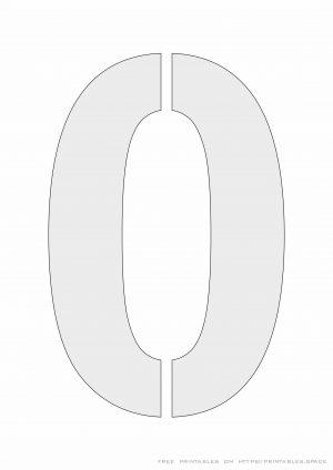 Printable-Stencil Number 0