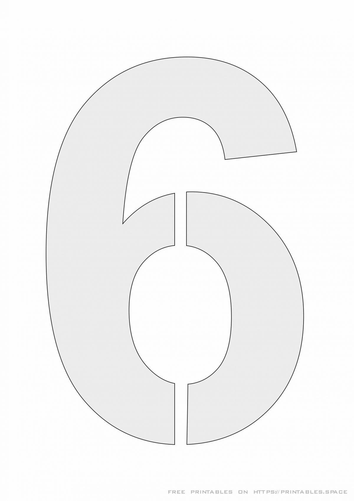 Stencil Number 6