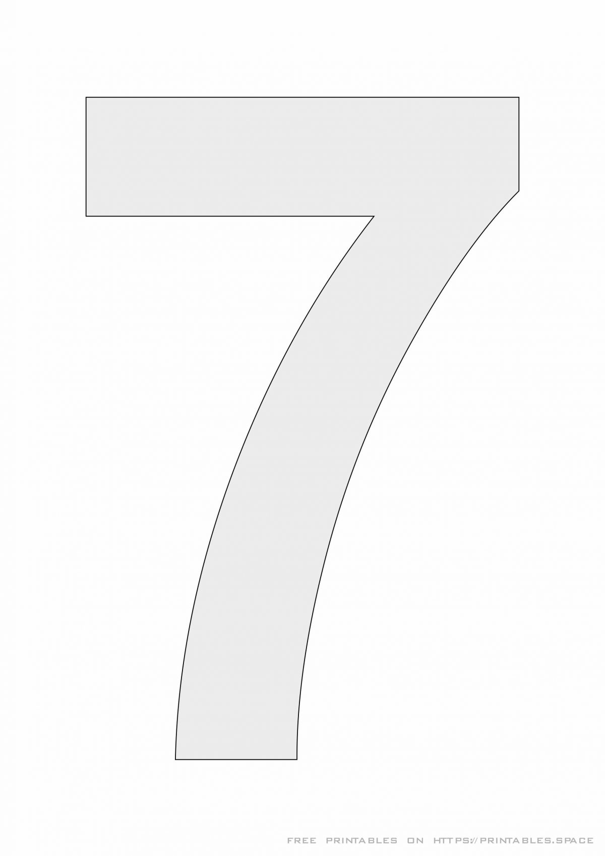 Stencil Number 7 - Printable Template