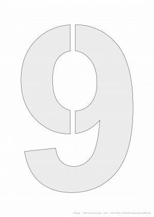 Stencil Number 9