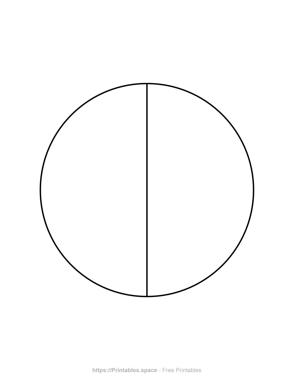Pie Chart Template - 2 Pieces
