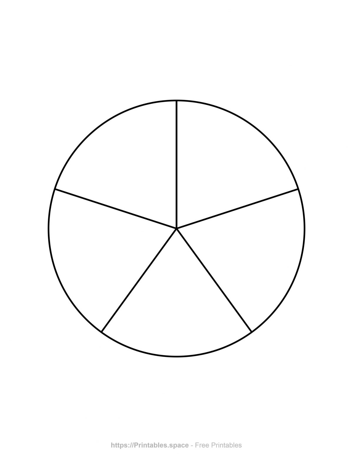 Pie Chart Template - 5 Pieces