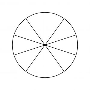 Pie Chart Template - 10 Pieces