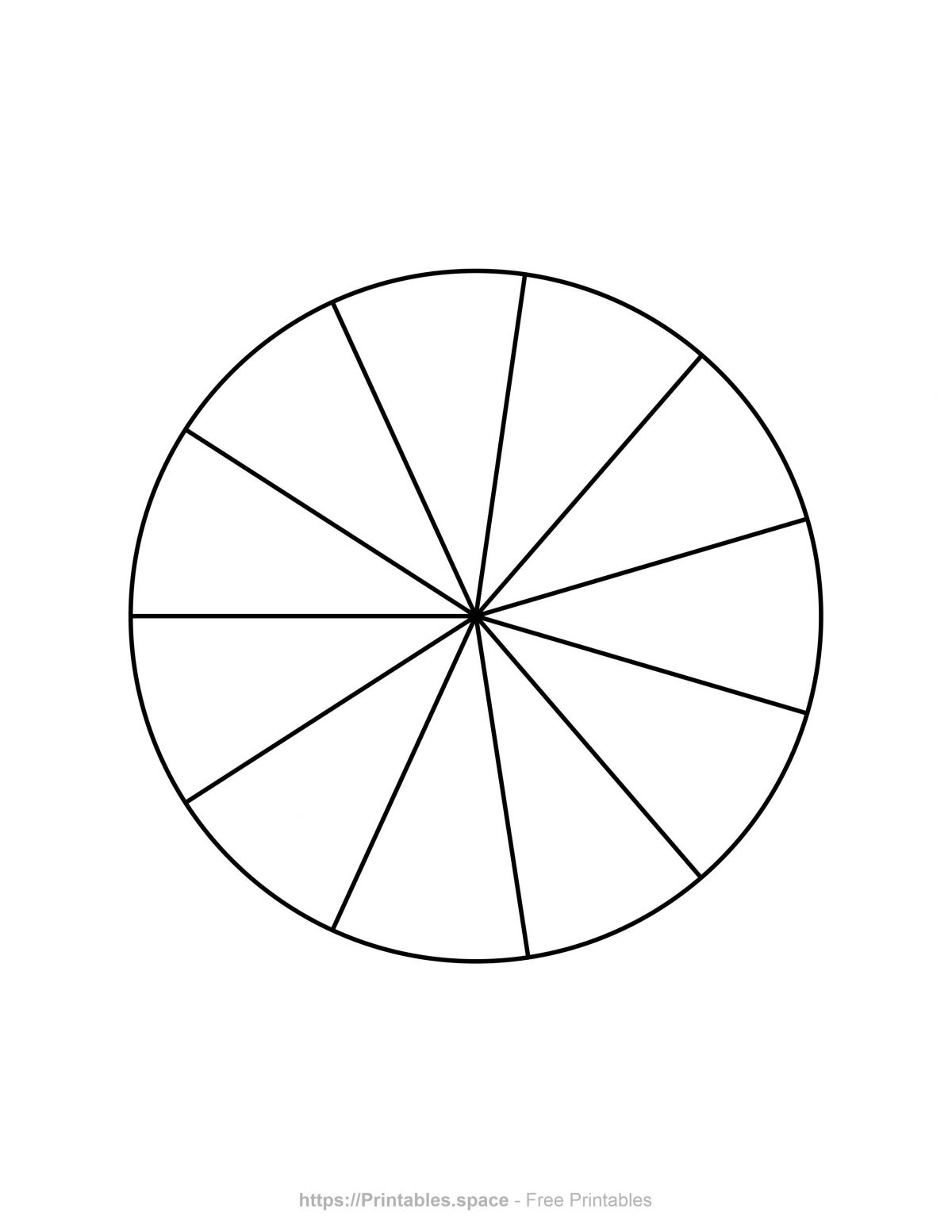 Pie Chart Template - 11 Pieces