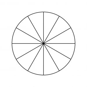 Pie Chart Template - 12 Pieces