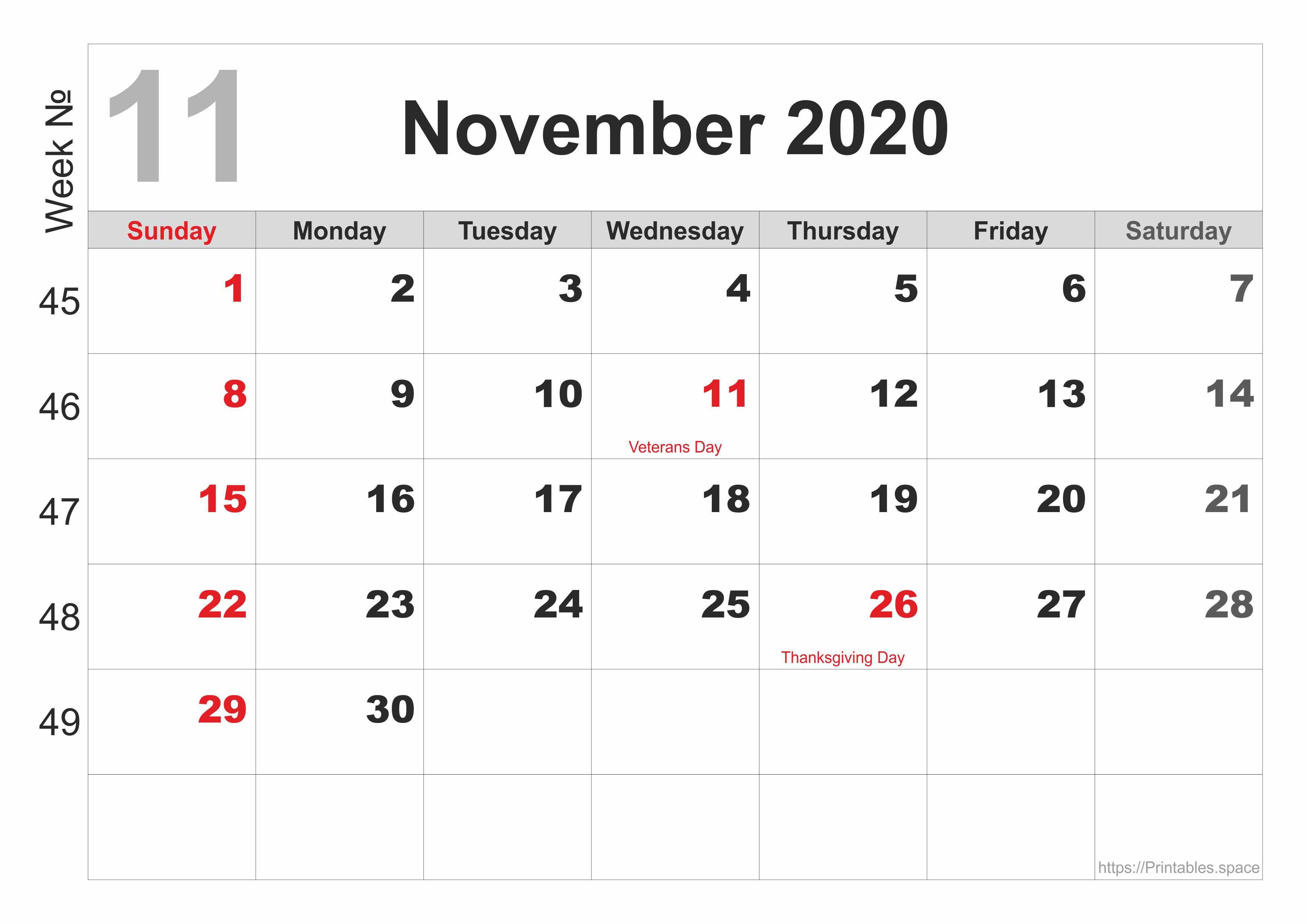 11. November 2020