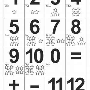 Number Flashcards for Teaching Number
