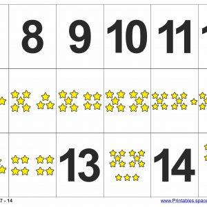 Printable Number Flashcards 7 - 14