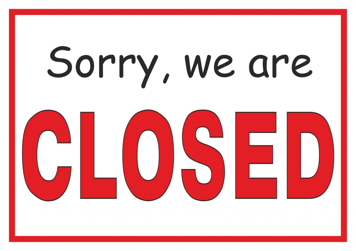 picture about Printable Sign called Sorry, We Are Shut - No cost Printable Signal - No cost Printables