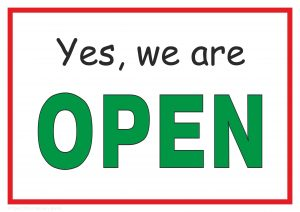 Yes, We Are Open - Side 1 for open close plate
