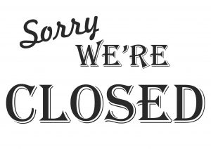 Sorry, We're Closed - Printable plate